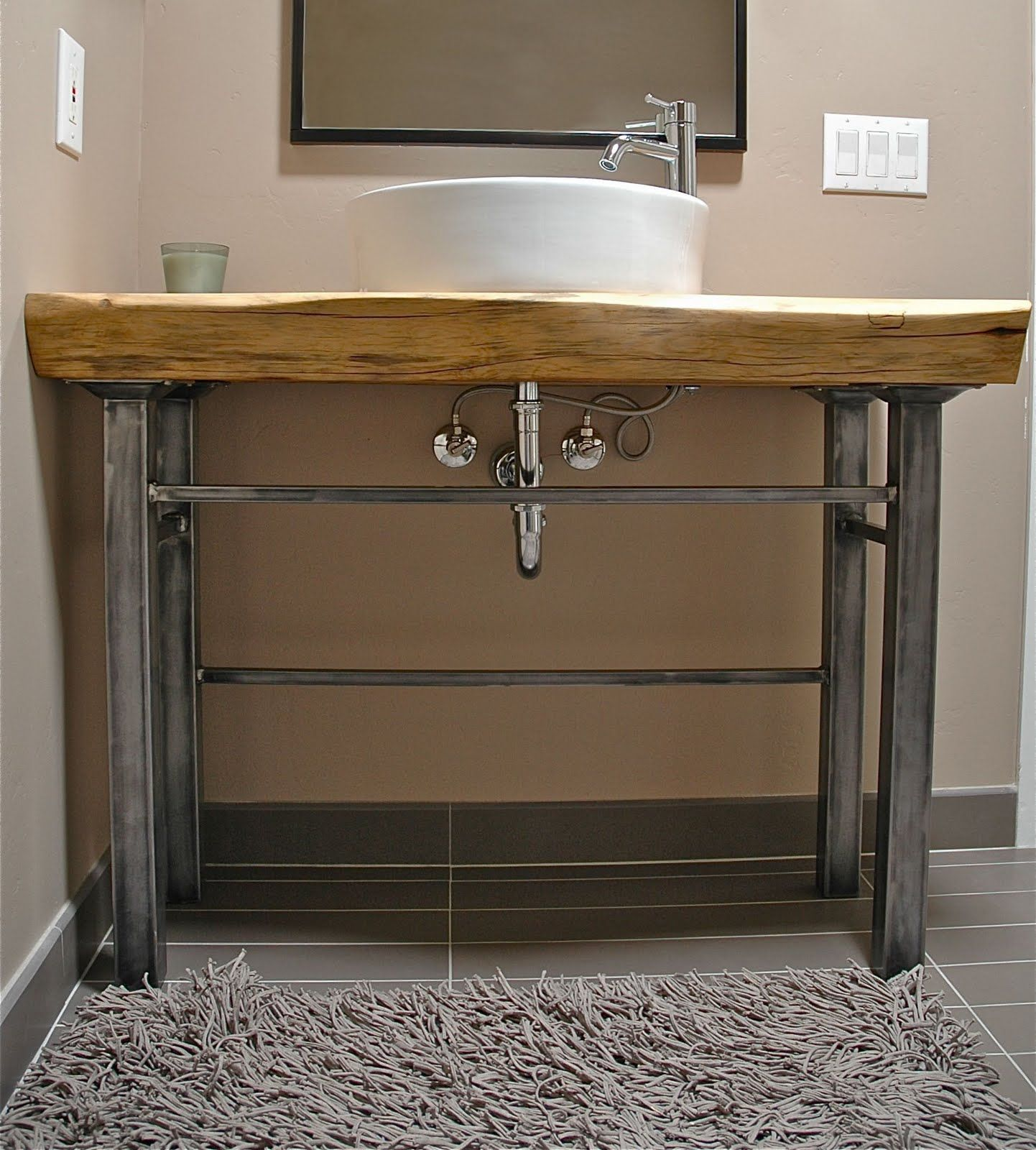 Wood Vanity Bathroom Wood Slab Bathroom Counter Google Search New Home Inspiration