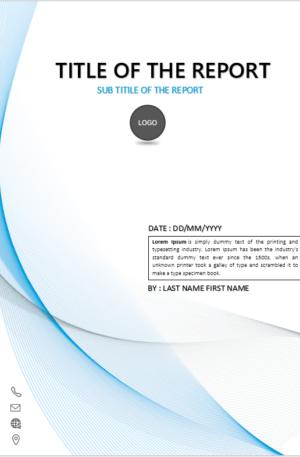 Cover Page Template In Word For Report Download Design Templates Karya Seni Kopi Sampul Buku Buku