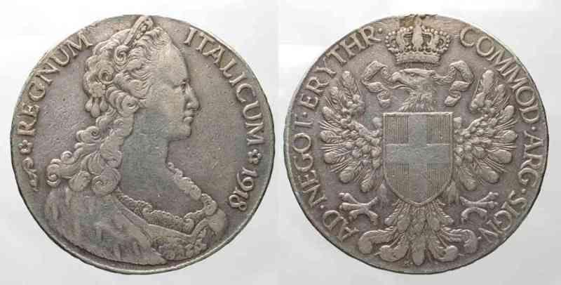 1918 Eritrea ERITREA Tallero 1918 silver VF # 78815 VF