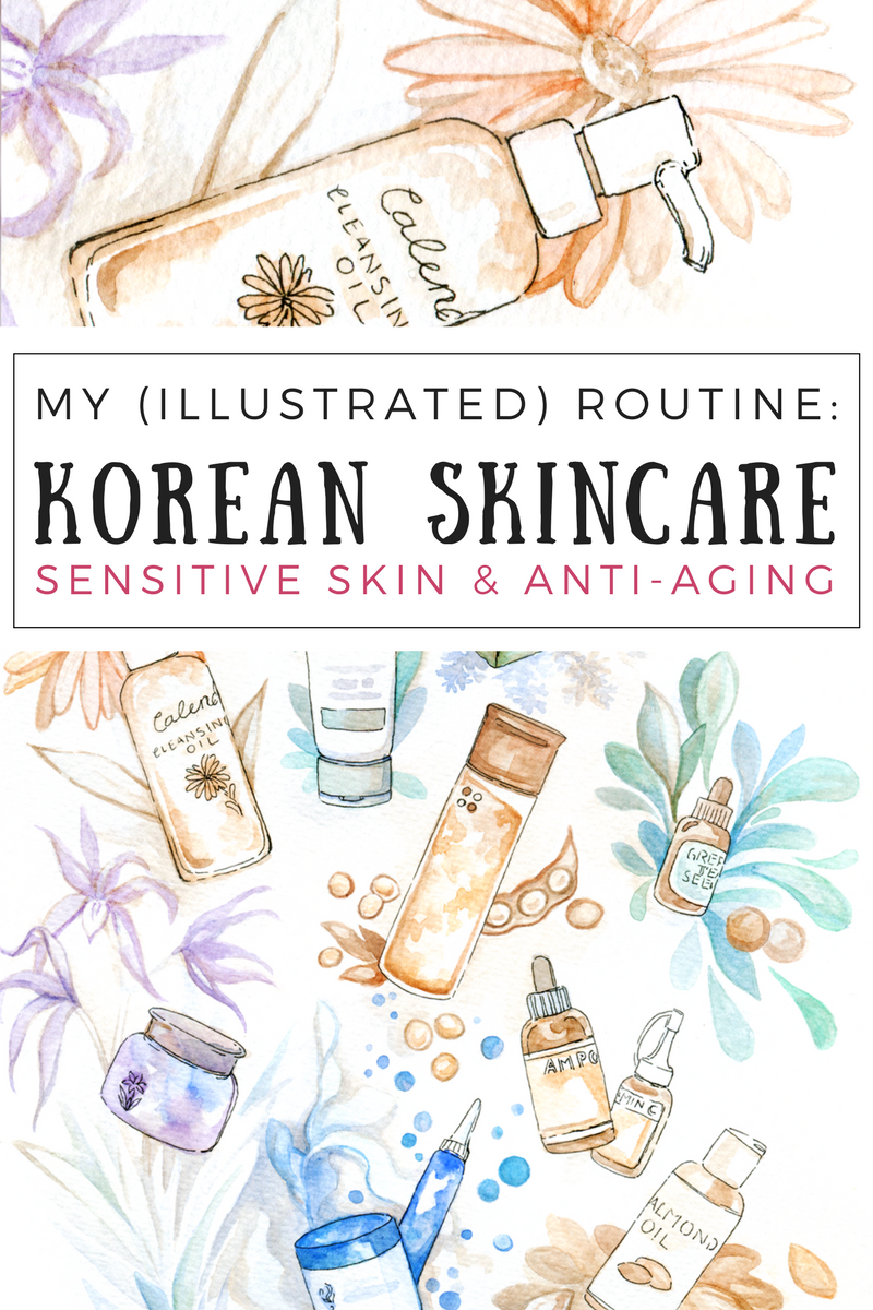 Korean & Natural Skincare Routine for Cold Winters — evydraws