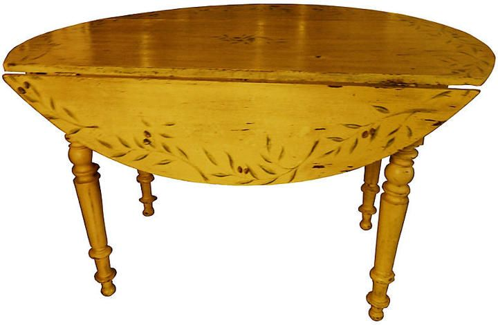 One Kings Lane Vintage French Provençal Painted Table - Ausgefallene Schränke