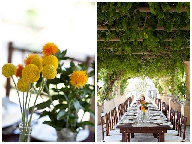 pretty, simple florals in this rustic Ojai wedding; photos by jennifer roper http://su.pr/1KltY8 #wedding #rustic #florals