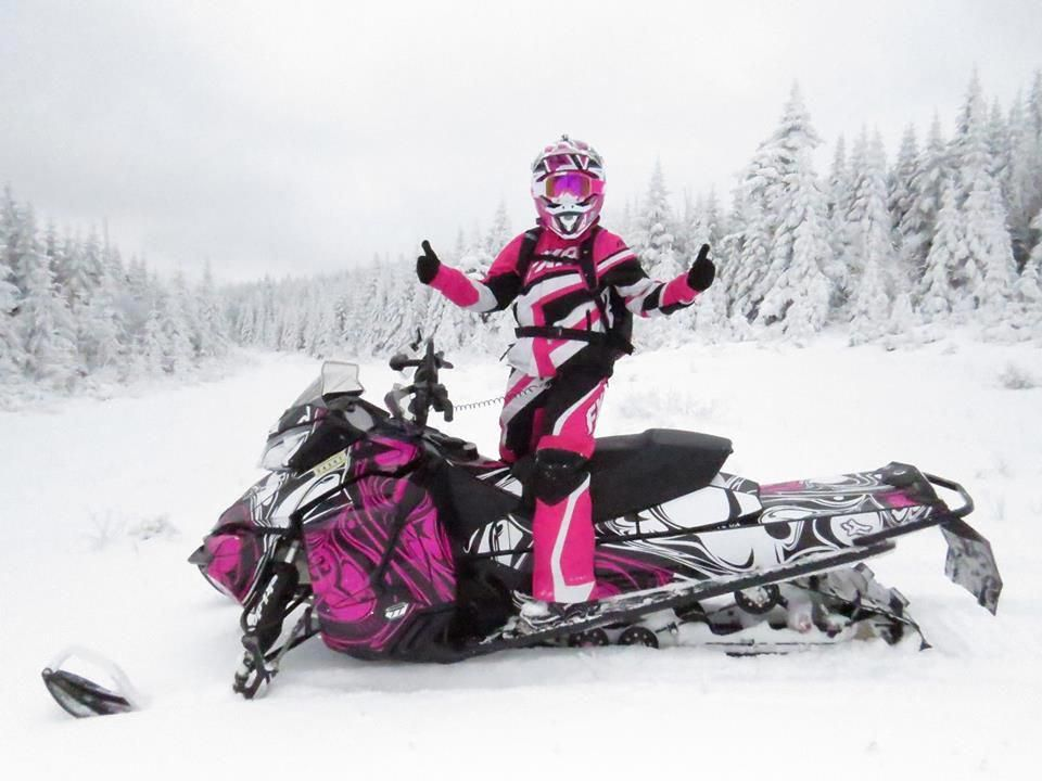 Pin by Golf Universe on Sports Snowmobile girl
