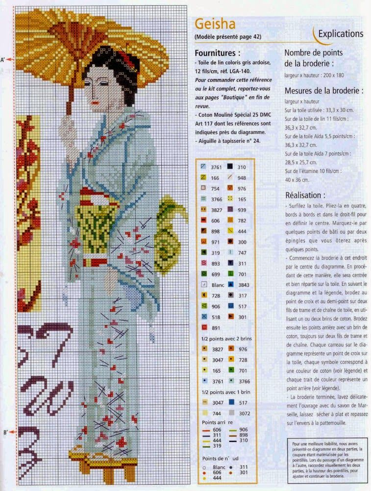 PLANETA PONTO CRUZ 2: Almofada Geisha | Bordado oriental | Pinterest ...