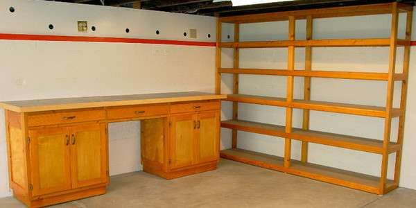 Awesome Garage Cabinets Sears Design In Your Home Made From Wooden Material Finished With Traditional Tou Garage Shelving Plans Garage Shelving Garage Cabinets