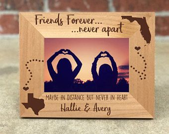 Personalized Best Friends Picture Frame Gift For Friend Long