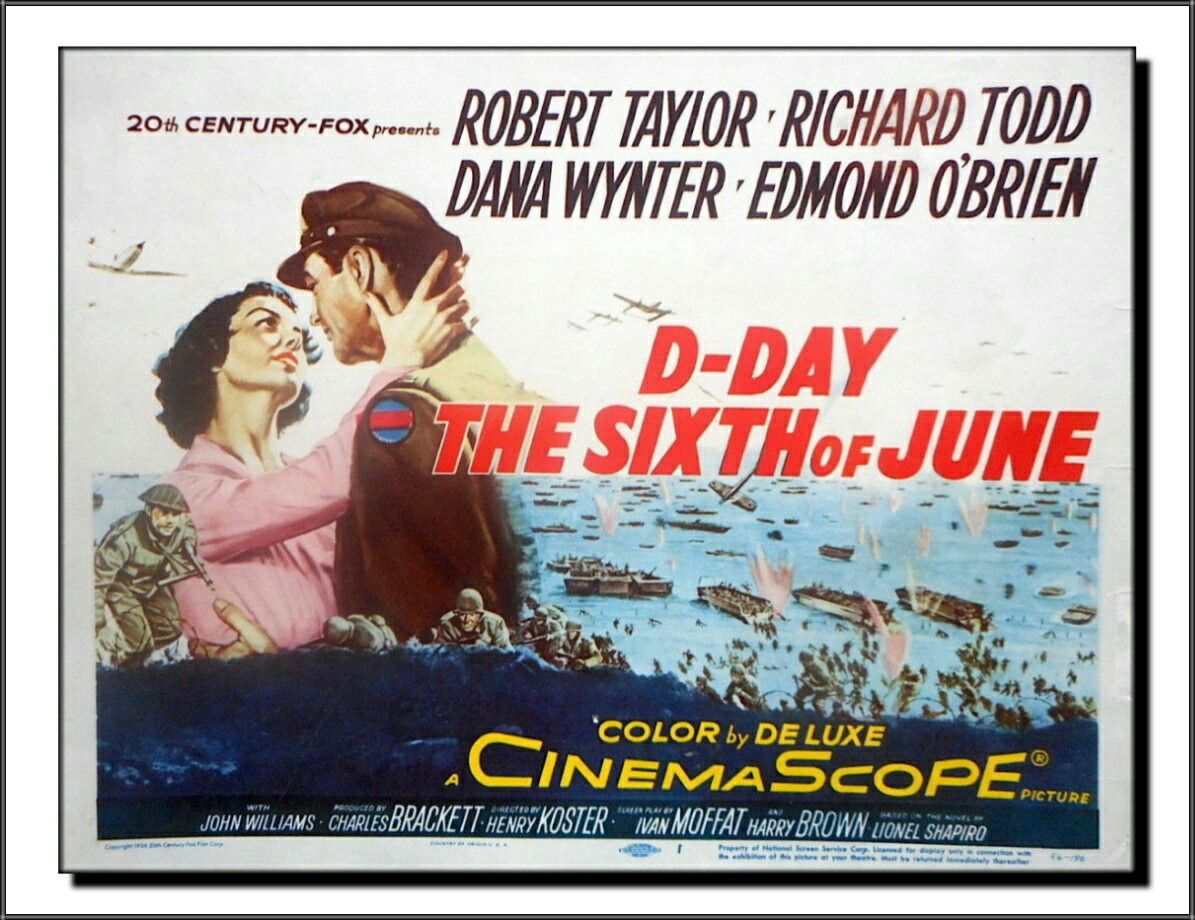 D-Day The Sixth Of June (1956) | Lobby cards, Title card, D day