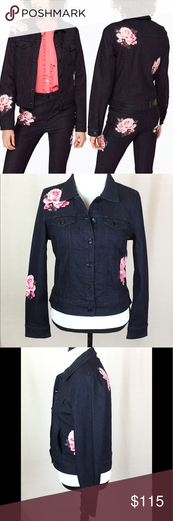 969c00a76e KATE SPADE BROOME STREET ROSE DENIM JACKET SIZE M New without tags. Kate  Spade Broome