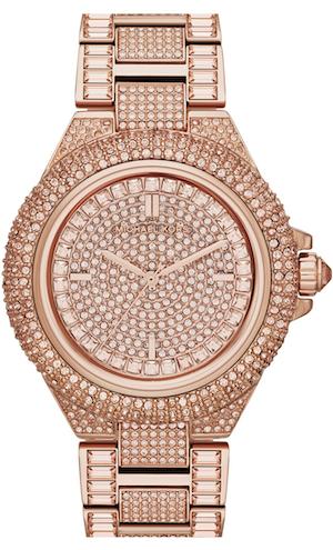 7e2121c04f9e Michael Kors  Camille  Crystal Encrusted Bracelet Watch