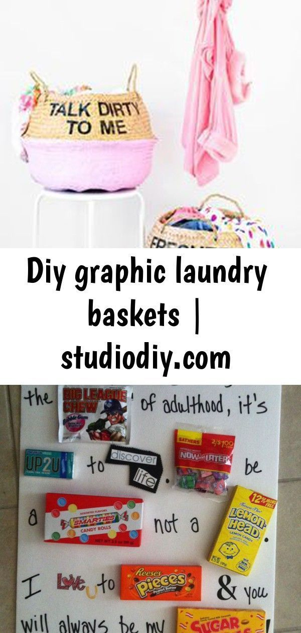 DIY Graphic Laundry Baskets | studiodiy.com Best ideas about 18Th Birthday Gift …