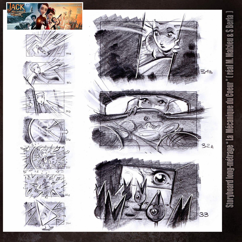Storyboard M�canique Du Coeur (directed By Stephane Berla & Mathias Malzieu  Drawings Eric Gandois)
