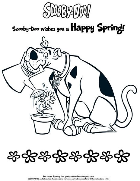 Scooby Doo Coloring Happy Spring Scooby Doo Coloring Pages