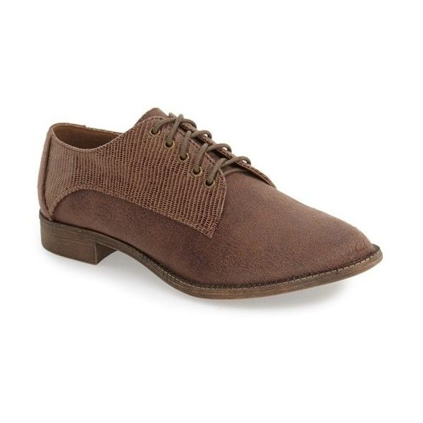 Women's Very Volatile 'Warner' Lace-Up Oxford ($36) ❤ liked on Polyvore featuring shoes, oxfords, stone faux leather, slim fit oxford, slim shoes, very volatile shoes, very volatile and laced up shoes