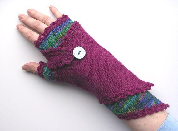 Fingerless Wraparounds PDF knitting pattern | crochet | Pinterest