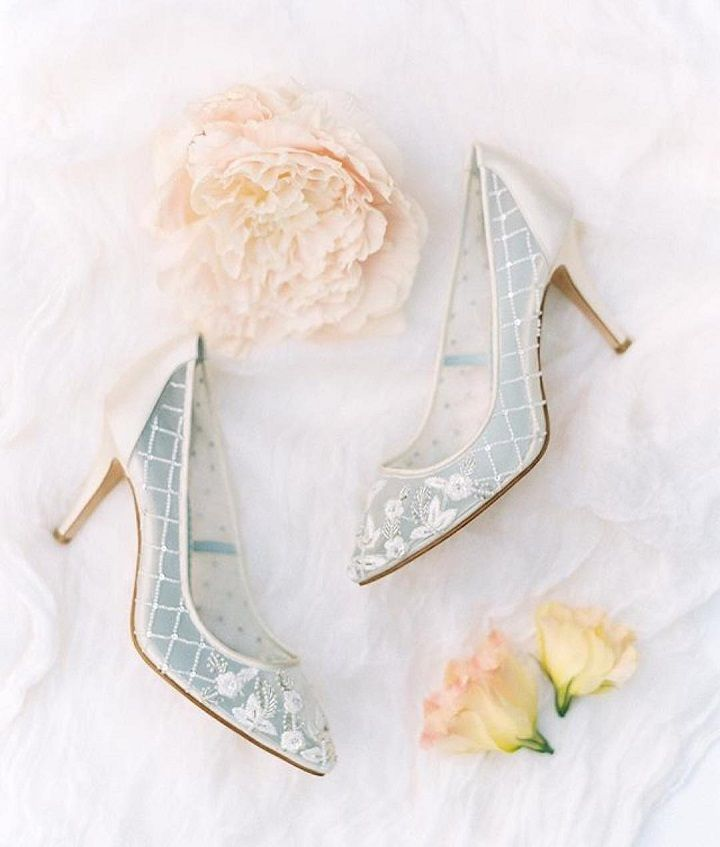 Beautiful Bridal wedding shoes | Sheer ivory bridal heels #weddingshoes #bridalheels