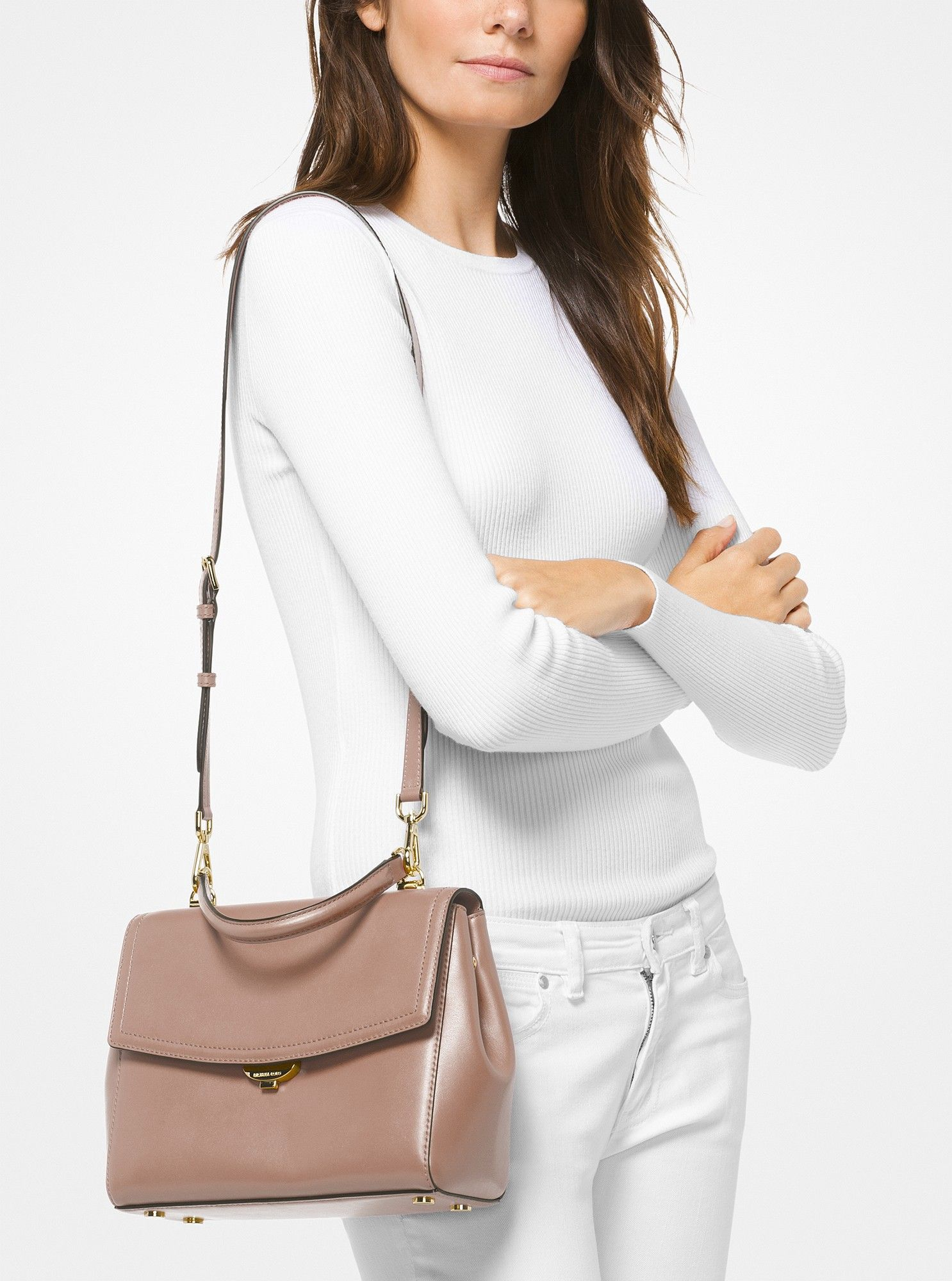 39c0dc23e6a4 Ava Medium Leather Satchel by Michael Kors | Products | Leather ...