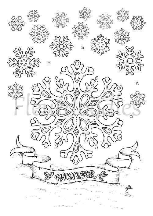 welcome to my etsy shop fleurdoodles hand drawn coloring page snowflakes after payment