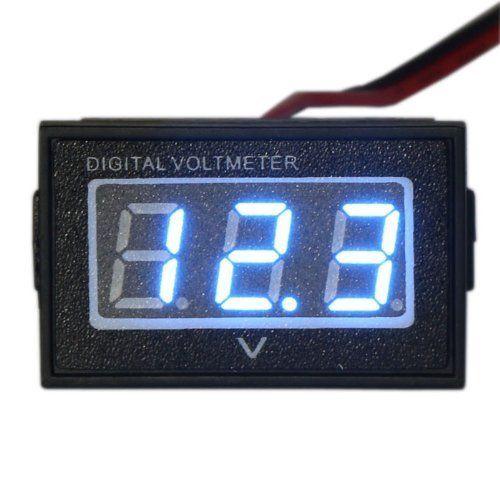 waterproof monitor dc 4 5-150v 12/24/36/48v volt battery meter voltage  tester automative electric cars gauge small digital voltmeter 0 56