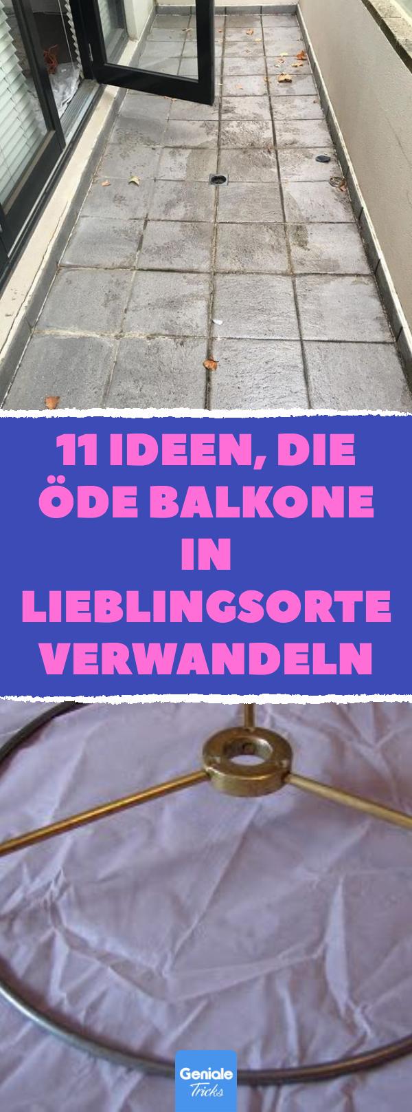10 Ideen, die öde Balkone in Lieblingsorte verwandeln