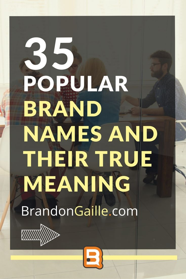 The True Meaning Of Popular Brand Names Popular The Ojays - True meaning brand names