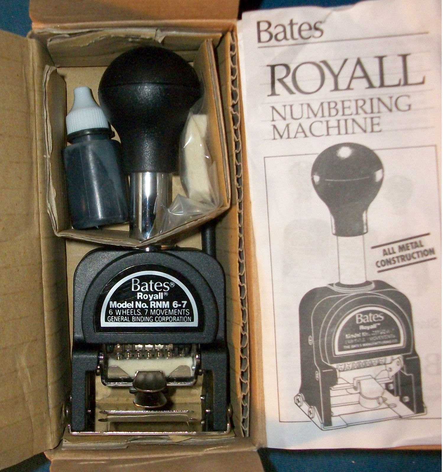 Bates Royal Automatic Numbering Stamp Machine Vintage Officeoffice Suppliesstamps