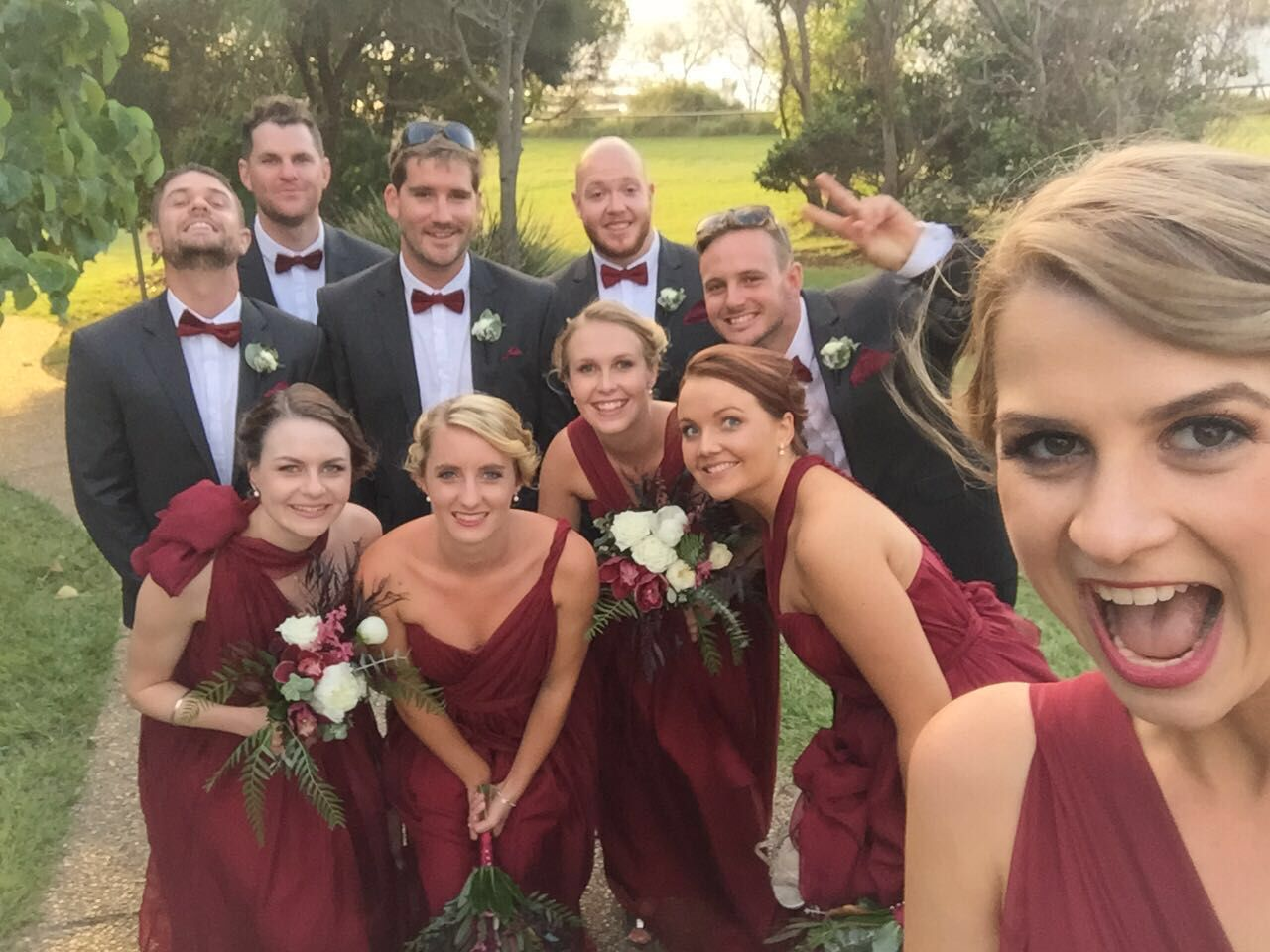 Burgundy and charcoal autumn wedding with pops of gold our burgundy and charcoal autumn wedding with pops of gold burgundy bridesmaidbridesmaid flowersbridesmaid dressesbridesmaidswedding ombrellifo Images