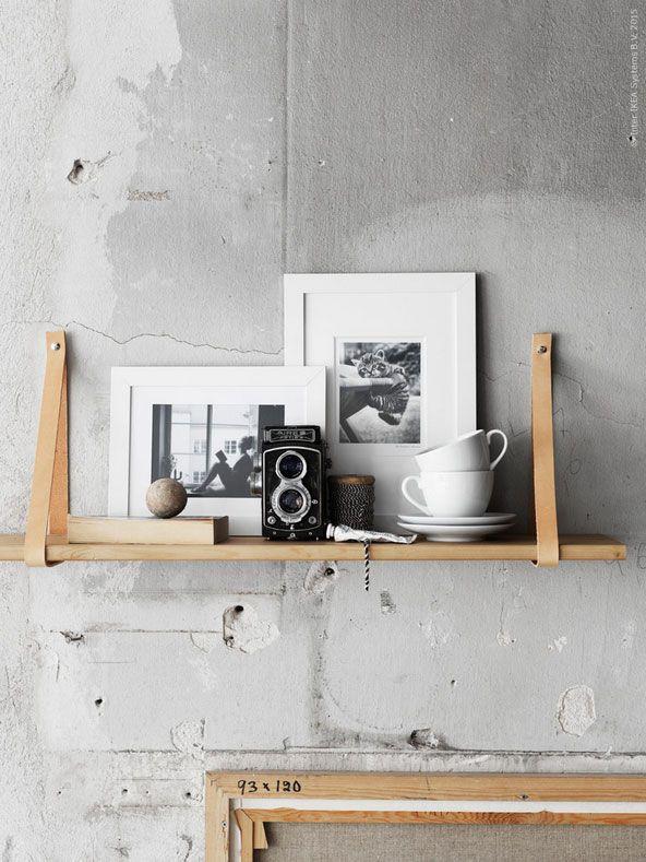 Cool accent: leer in je interieur | Fotowand, Diy ideen und Wohnen