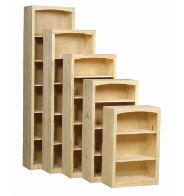 24 48 Inch Afc Bookcases Pine Bookcase Wide Bookcase Real Wood Furniture