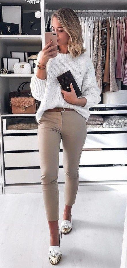 Classical Work Outfit For Winter #trendyspringoutfits