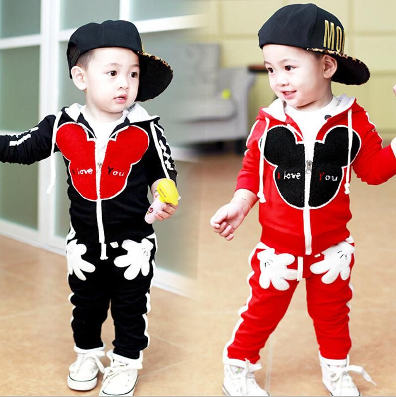 c81855c3dfe9 1-4Y New kids clothes boys sport suit children clothing set cotton ...