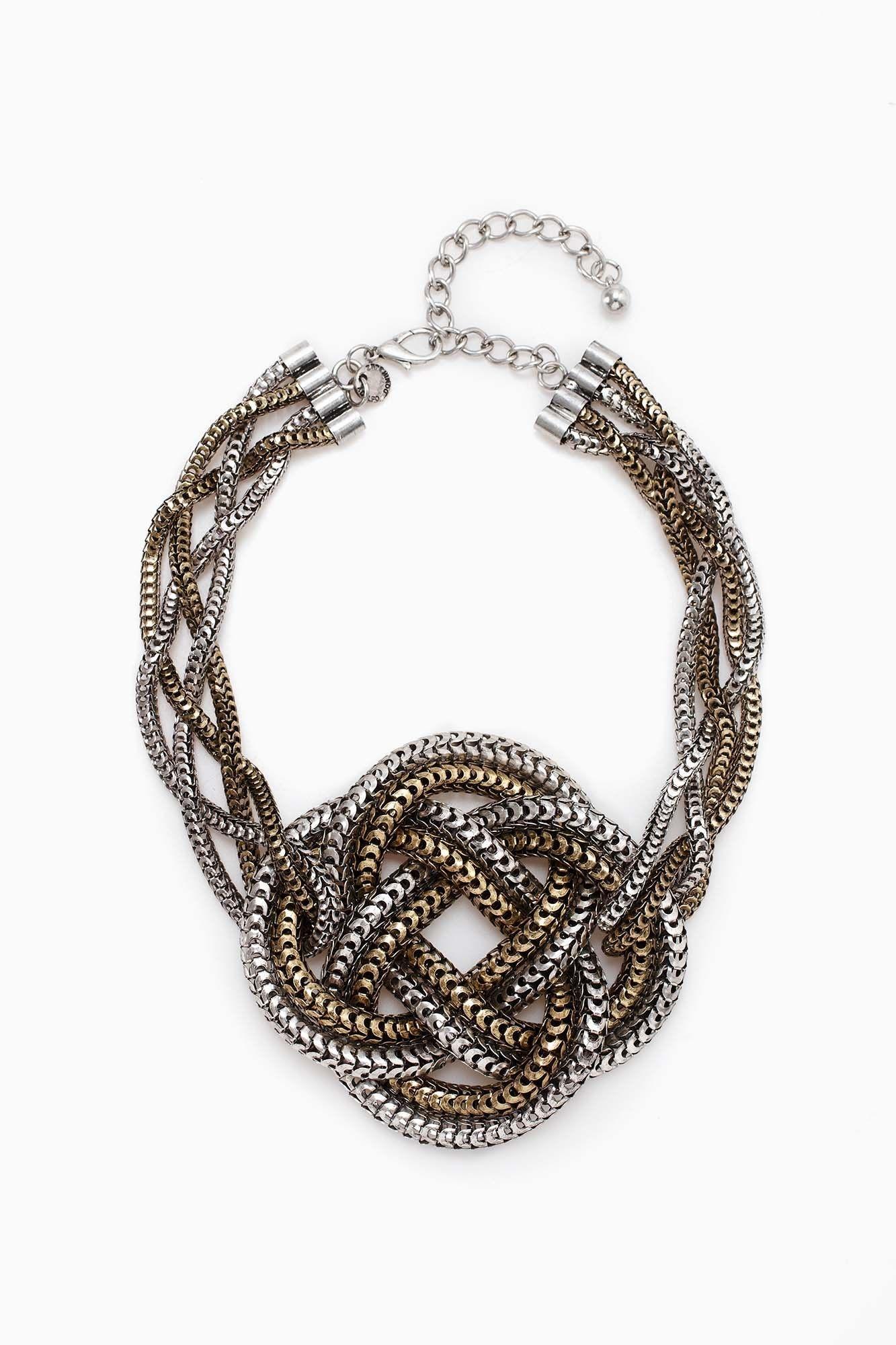 Maxi collar metalizado con nudo AD 50€. 90% Acero 10% Cobre