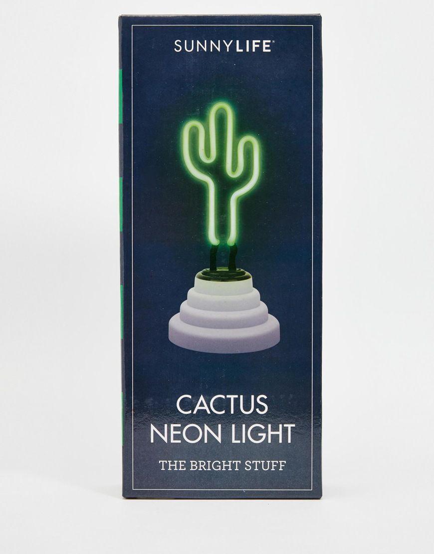 Sunnylife Green Cactus Neon Light