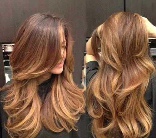 35 Karamel Sac Renkleri 2014 2015 En Guzel Sac Modelleri Ve Kesimleri Uzun Sac Uzun Sac Kesimleri Katli Sac Modelleri