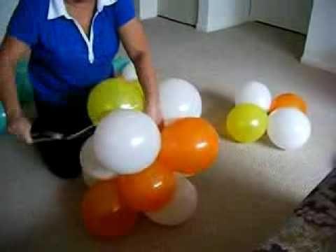 Diy 3 Color Spiral Balloon Arch Arco Espiral 3 Cores Balloon Arch Balloon Tower Balloon Arch Diy
