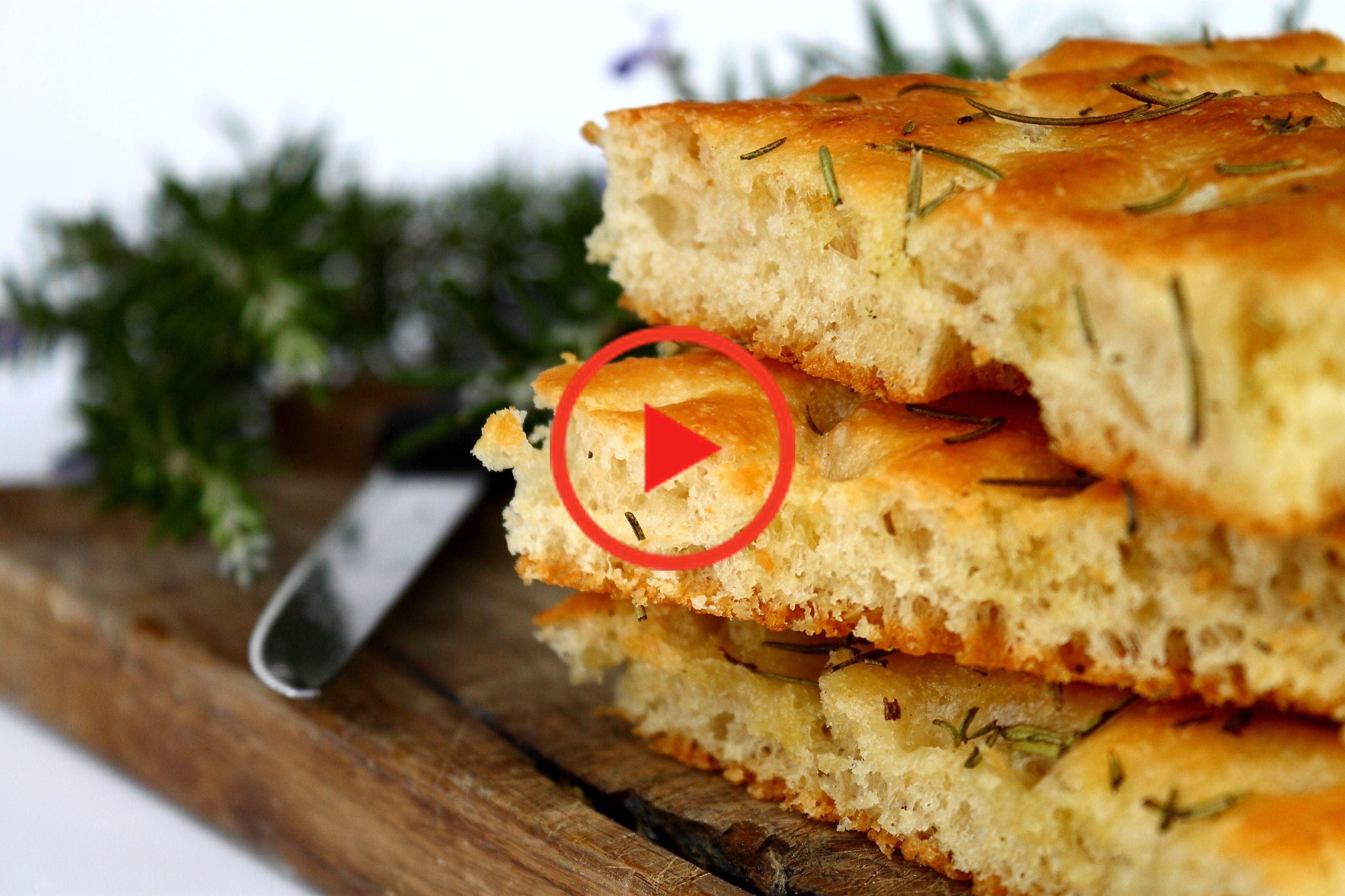 The Best Ever Homemade Rosemary Focaccia Bread