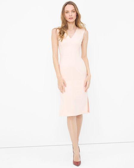 White House Black Market Seamed Side Sheath Dress Whbm