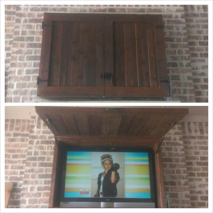 Custom Outdoor Tv Cabinets Diy Pinterest Outdoor Tv