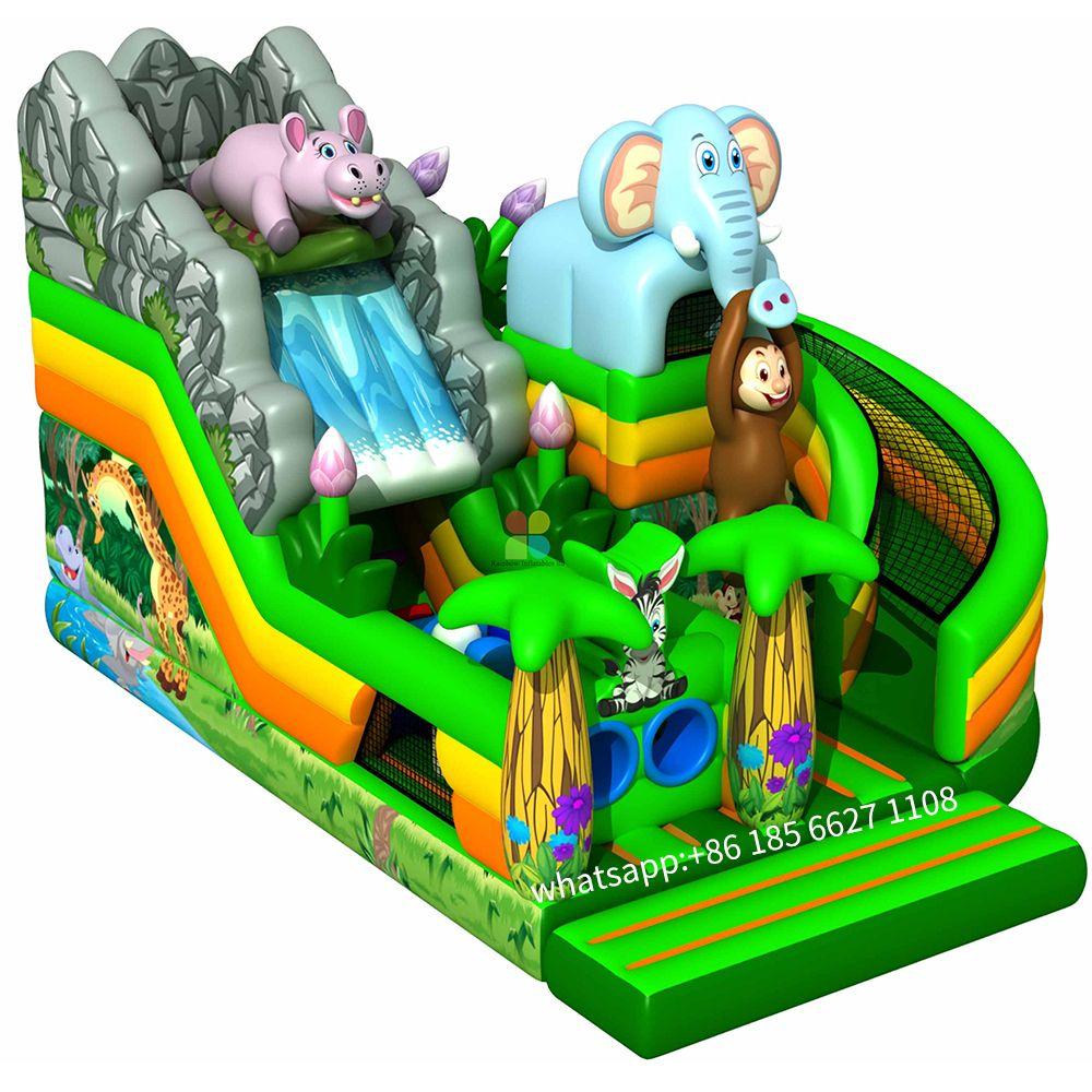 safari park slide in 2020 Inflatable bouncers