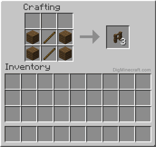 Fence Minecraft Recipe Make A Spruce In And More Crafting Recipes Design