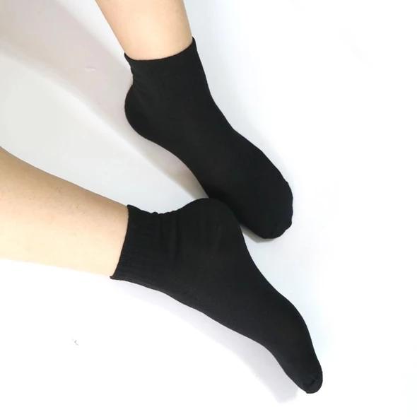 Men/'s Women`s Ladies Plain Black White Socks Casual Dress School Office Socks