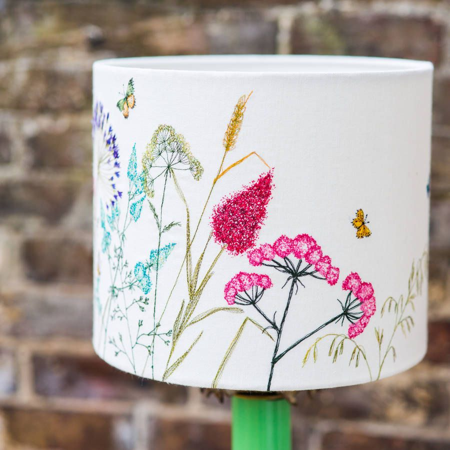 Embroidered floral lampshade embroidery machine embroidery and embroidered floral lampshade mozeypictures Gallery