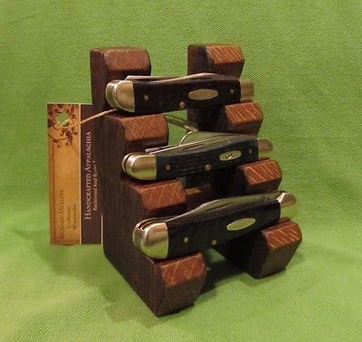 Custom Wood Knife Display Stand for Case xx Schrade Buck or most