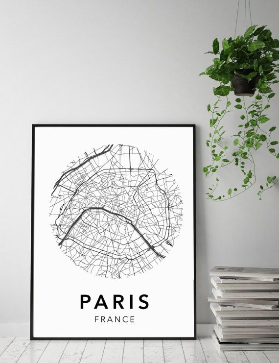 Paris Map Poster Of City New: Paris City Map Poster At Infoasik.co