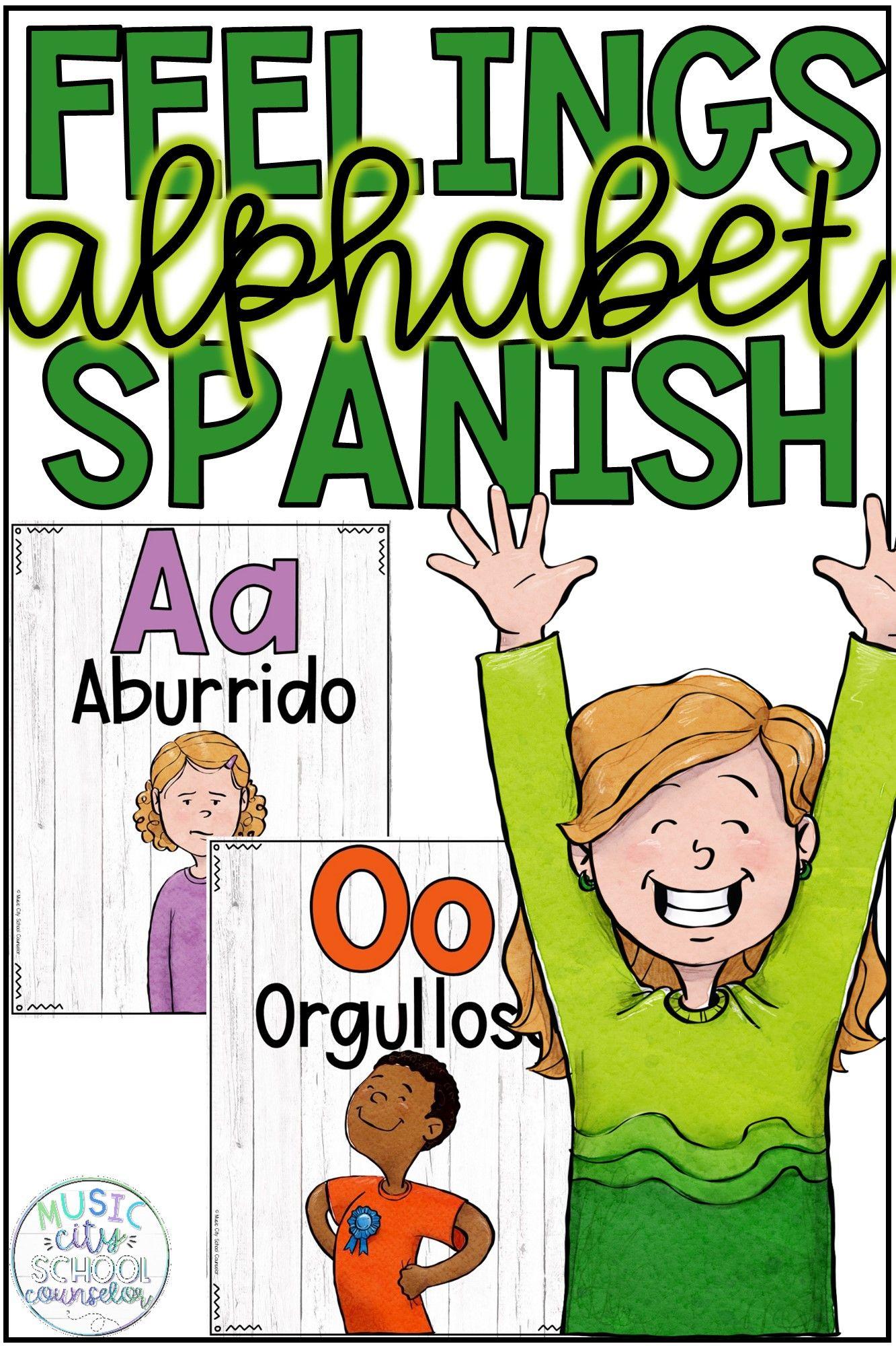 Spanish Feelings Alphabet Line Alfabeto De Emociones Y