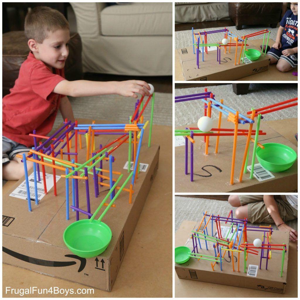 Stem Challenge For Kids Build A Straw Roller Coaster