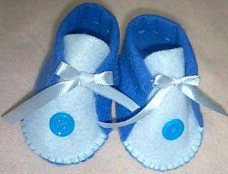 Como fazer sapatinhos de feltro para bebê Vila do Artesão