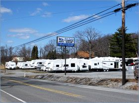 Dale Smith Camper Sales is located about 90 miles northeast