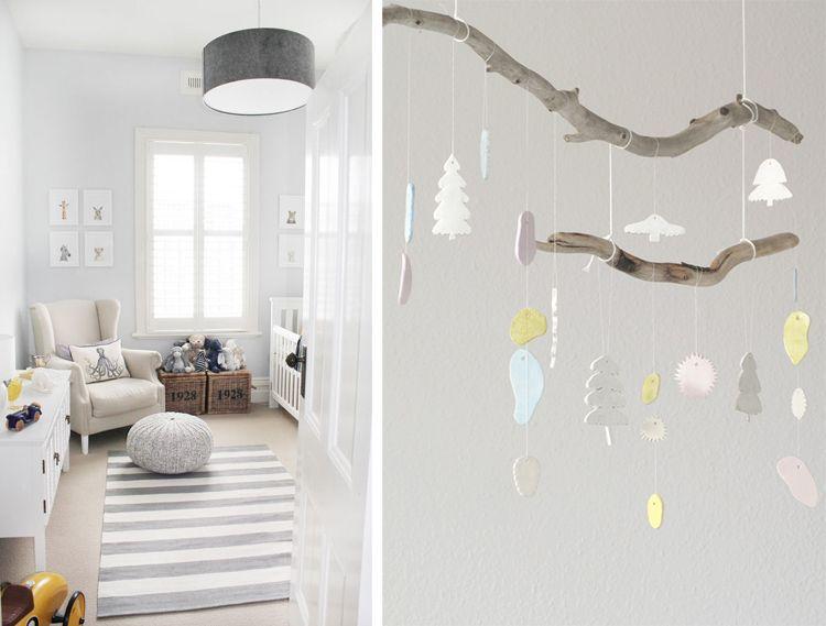 Nursery deco scandinavian habitacion bebe decoracion Scandinavian baby nursery