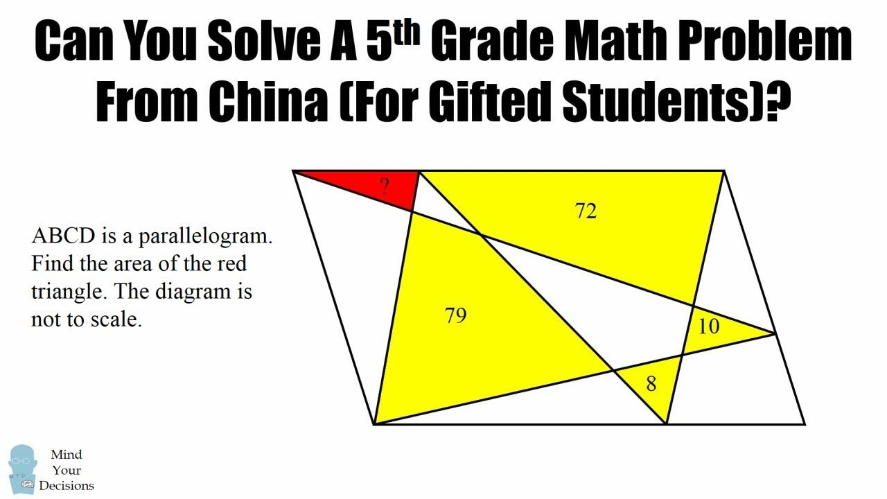 Can You Solve A 5th Grade Math Problem From China? (To