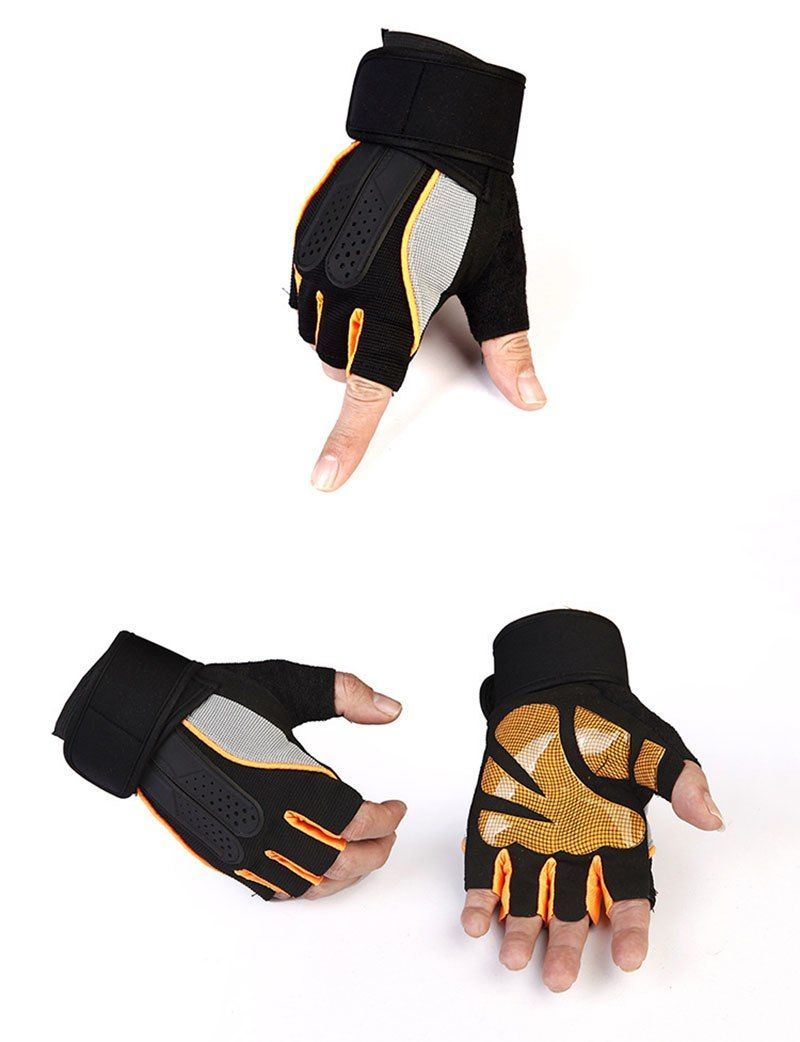 Wrist Support Cycling Gloves Outdoor Sports Gloves Gym Fitness Gloves